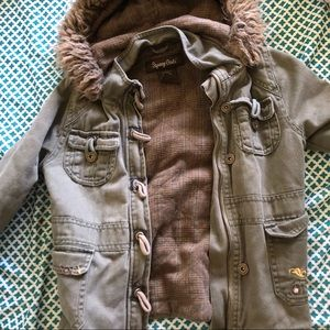 Cute olive green thick jacket